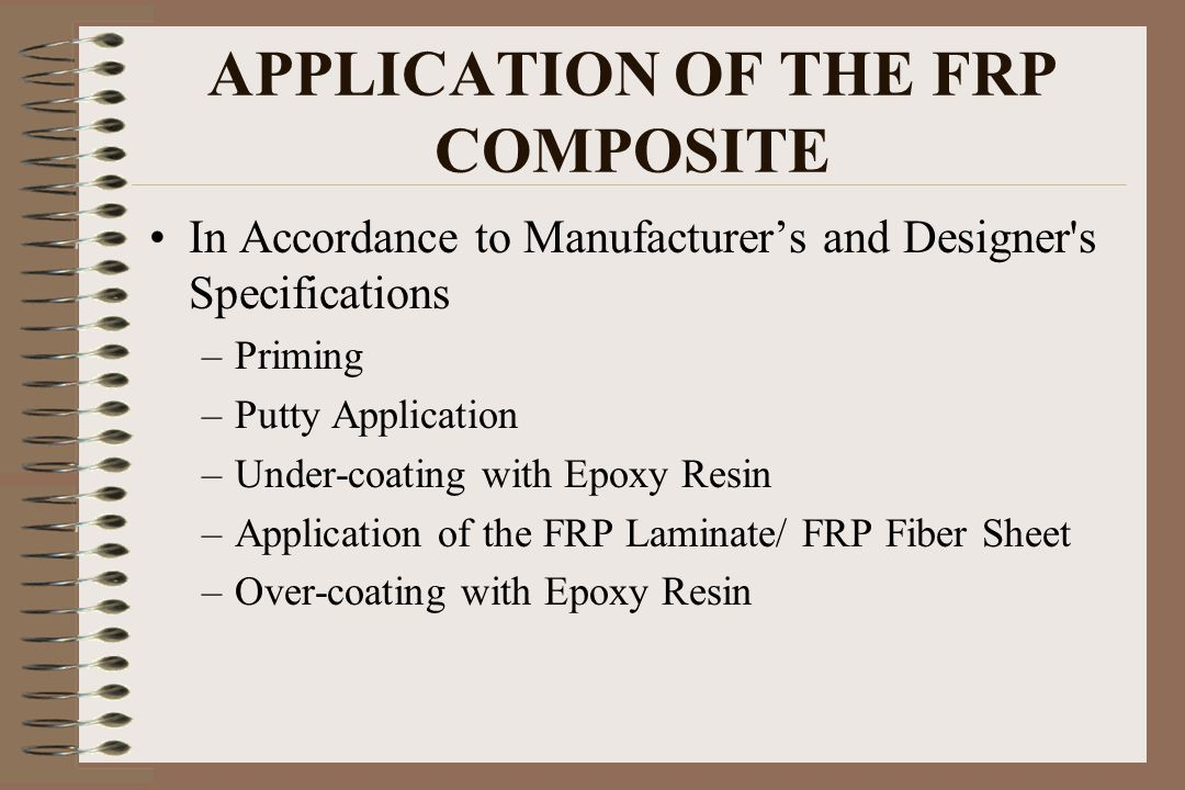 APPLICATION OF THE FRP COMPOSITE