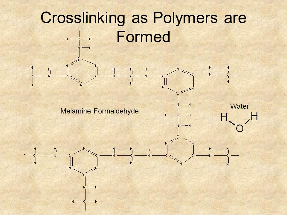 Crosslinking as Polymers are Formed