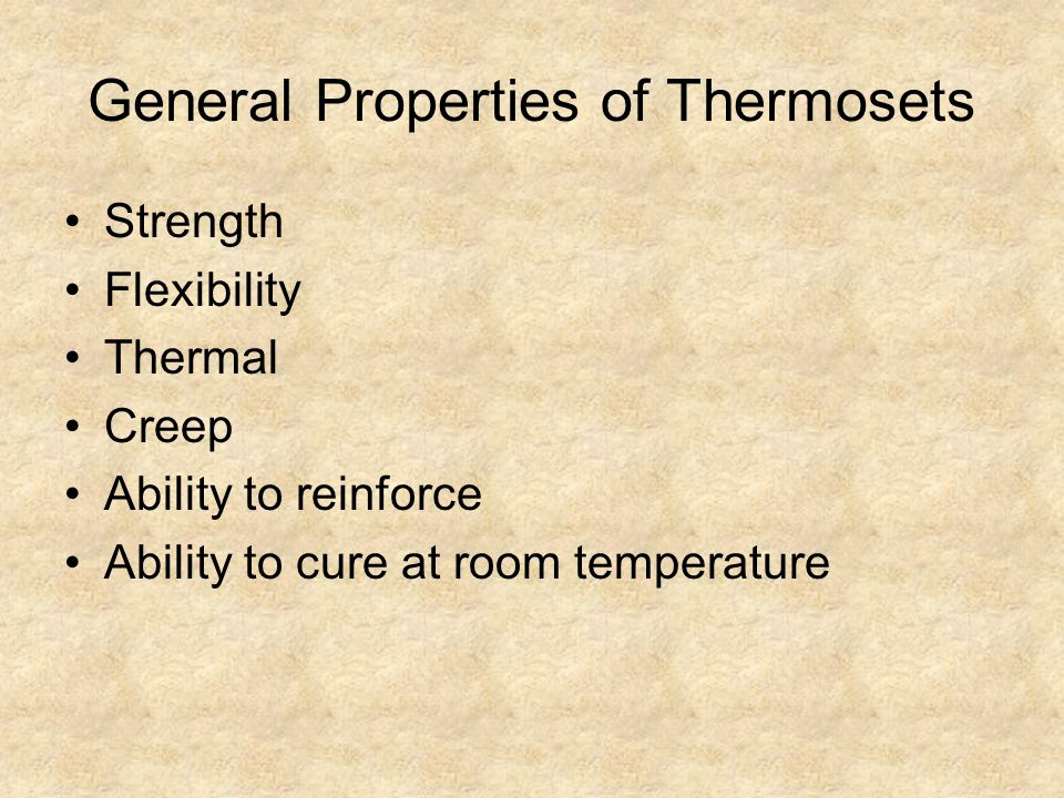 General Properties of Thermosets