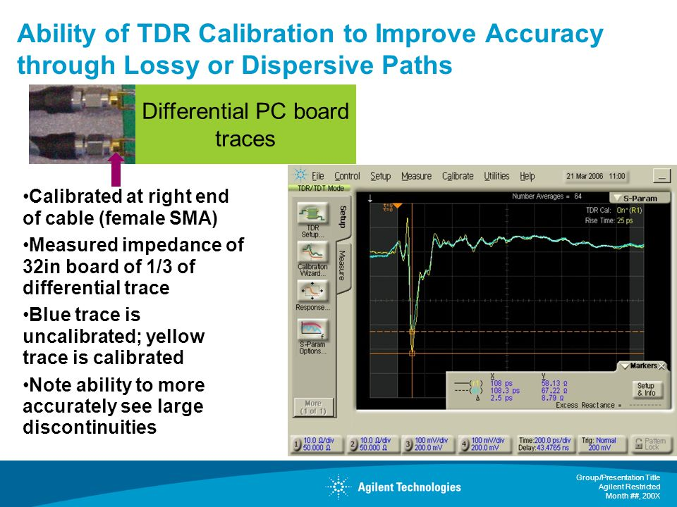 Ability of TDR Calibration to Improve Accuracy through Lossy or Dispersive Paths