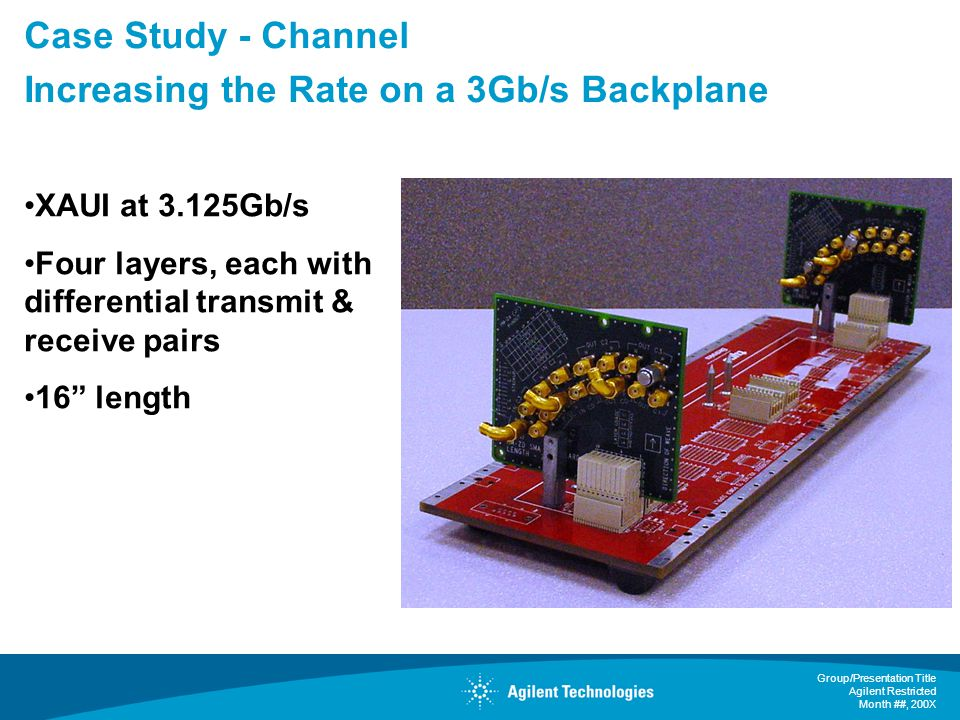 Case Study - Channel Increasing the Rate on a 3Gb/s Backplane