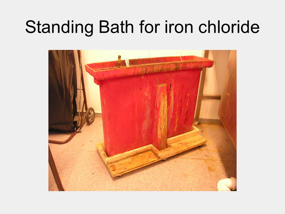 Standing Bath for iron chloride