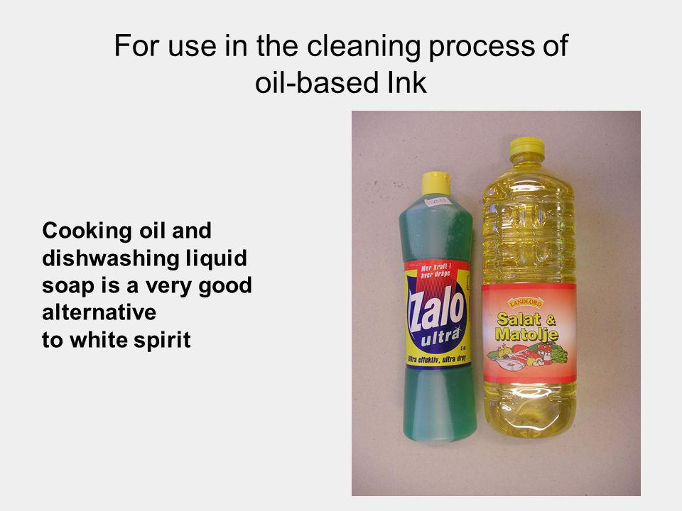 For use in the cleaning process of oil-based Ink