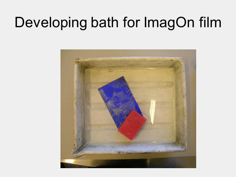 Developing bath for ImagOn film