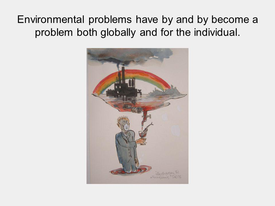 Environmental problems have by and by become a problem both globally and for the individual.