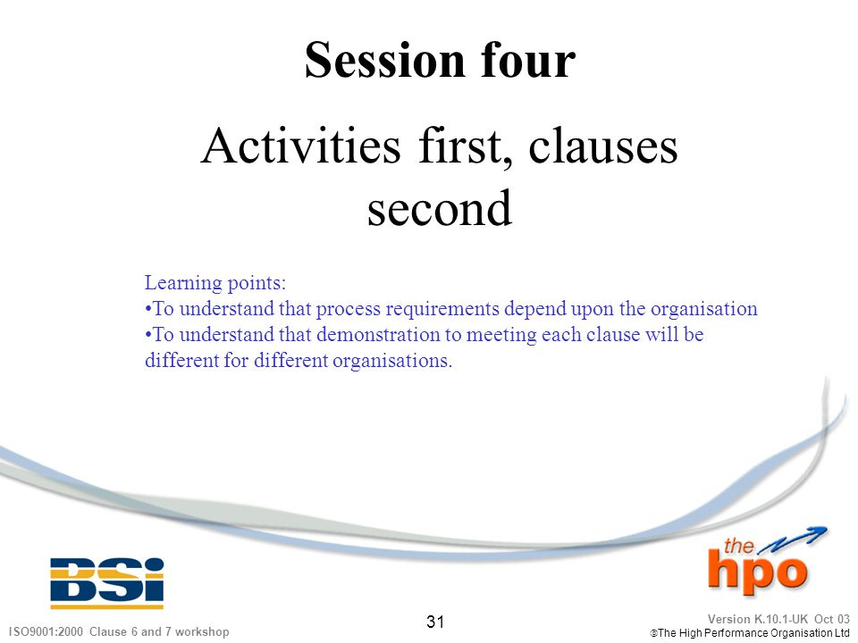 Activities first, clauses second