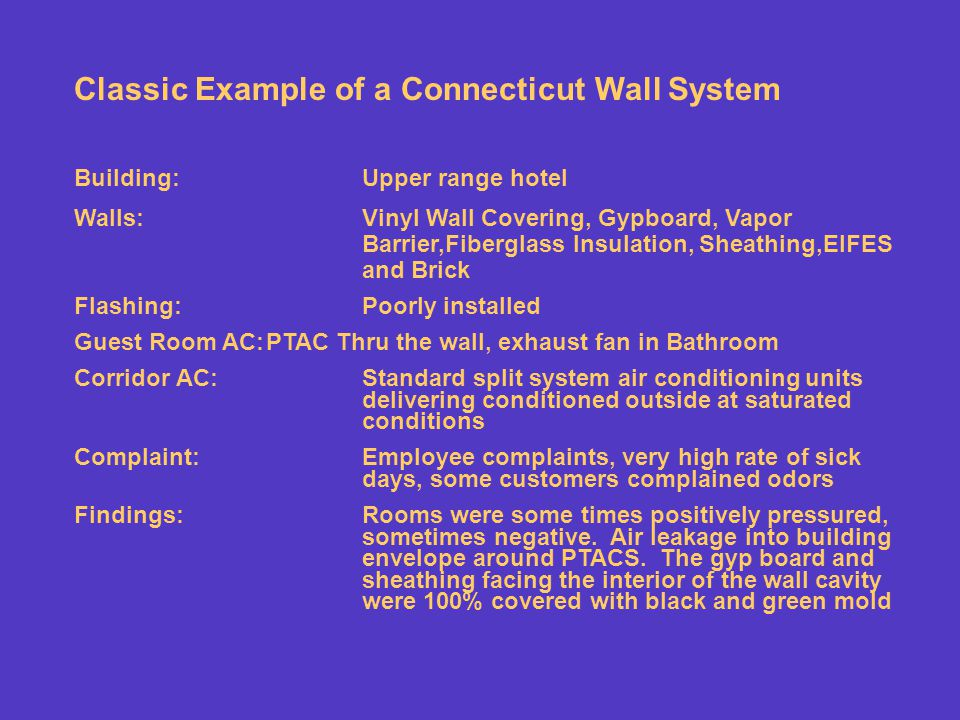 Classic Example of a Connecticut Wall System