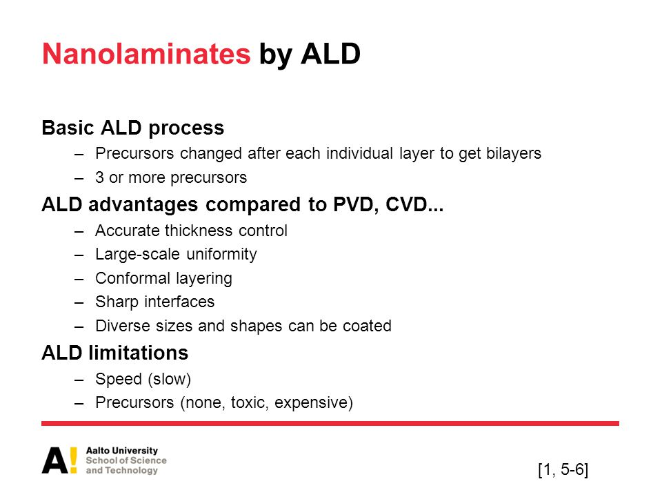 Nanolaminates by ALD Basic ALD process