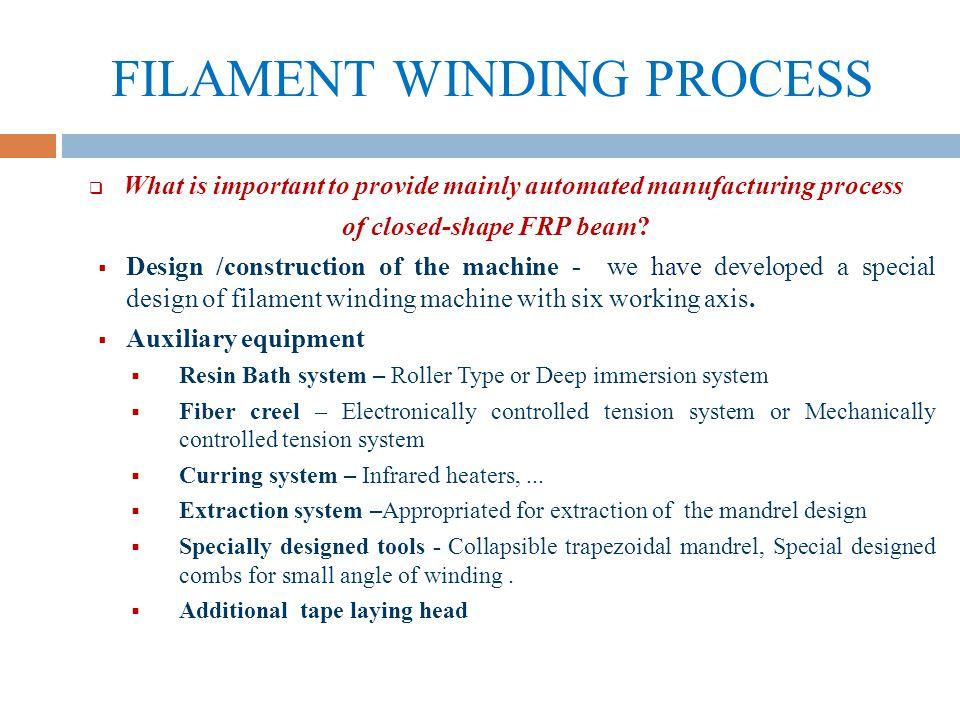 Fiber Reinforced Plastic beam manufacturing process - ppt download