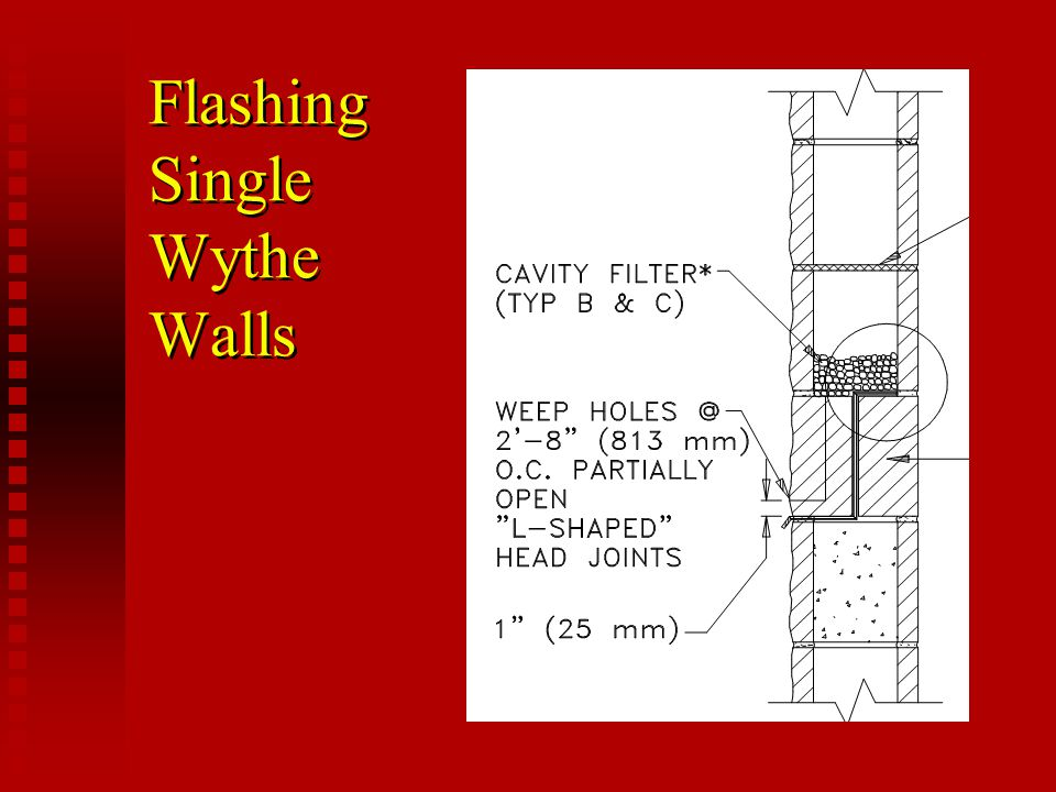 Flashing Single Wythe Walls