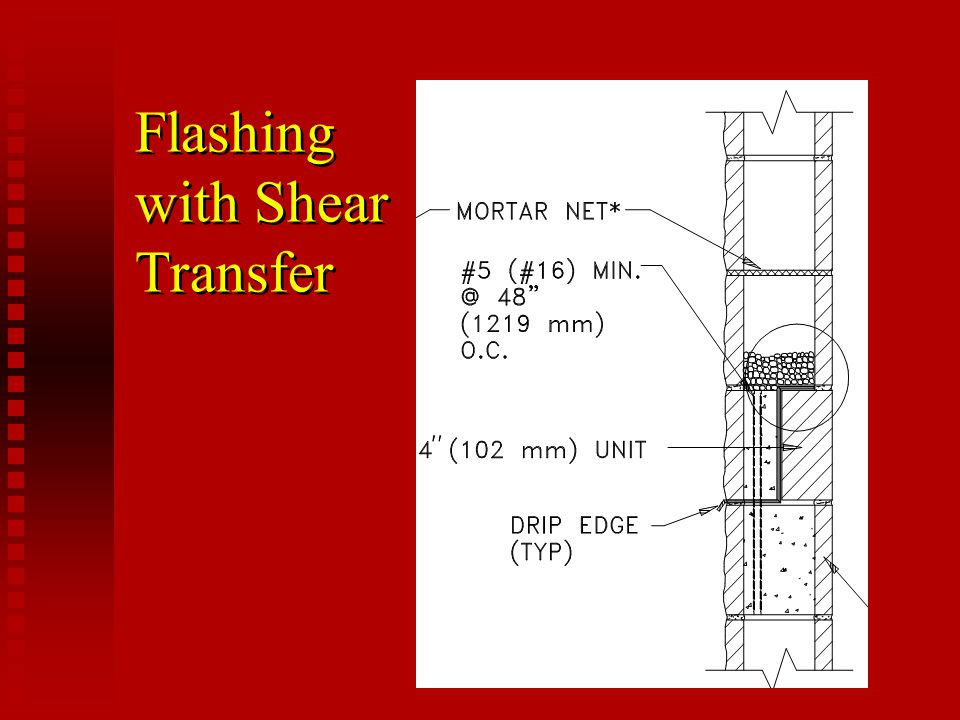 Flashing with Shear Transfer