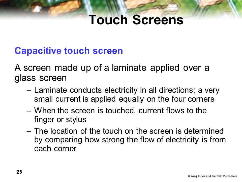 Touch Screens Capacitive touch screen