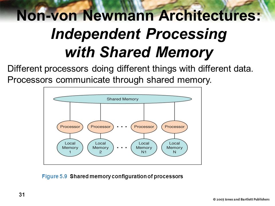 Non-von Newmann Architectures: Independent Processing with Shared Memory