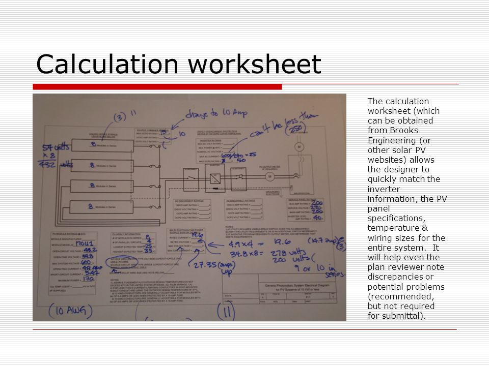 Residentialcommercial solar pv installations ppt video online calculation worksheet greentooth Gallery