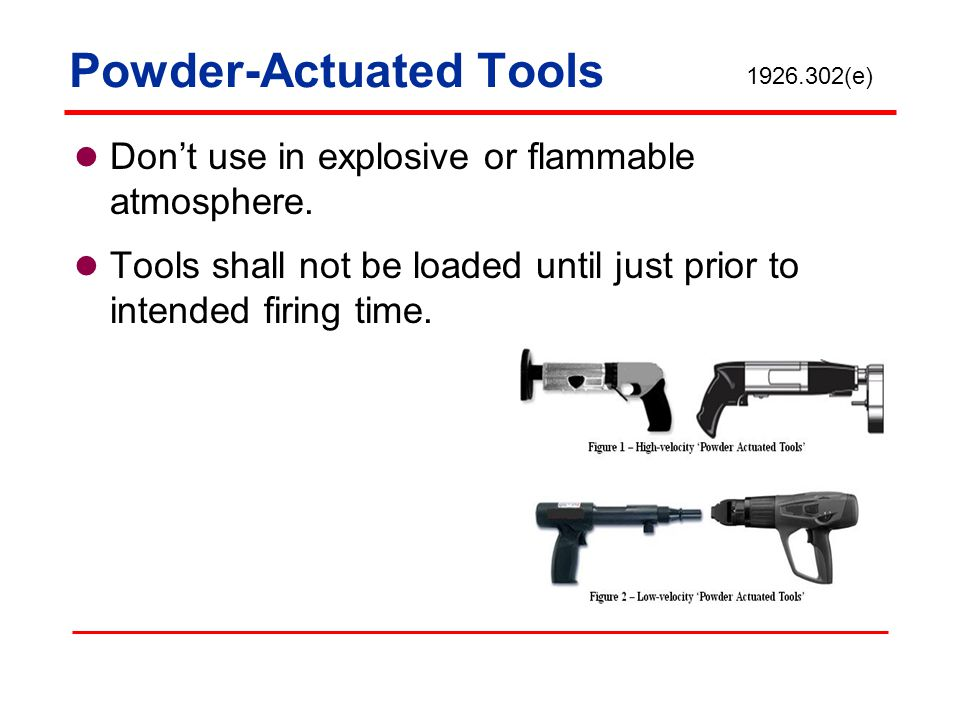 Powder-Actuated Tools