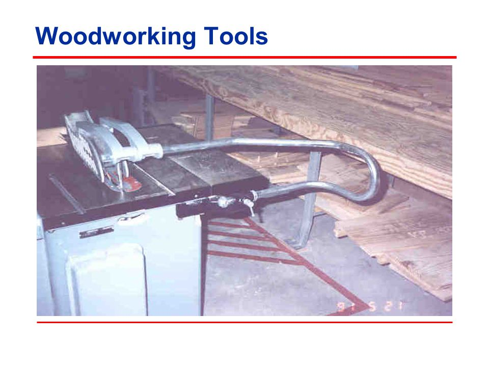Woodworking Tools Photo by NCDOL OSH Division