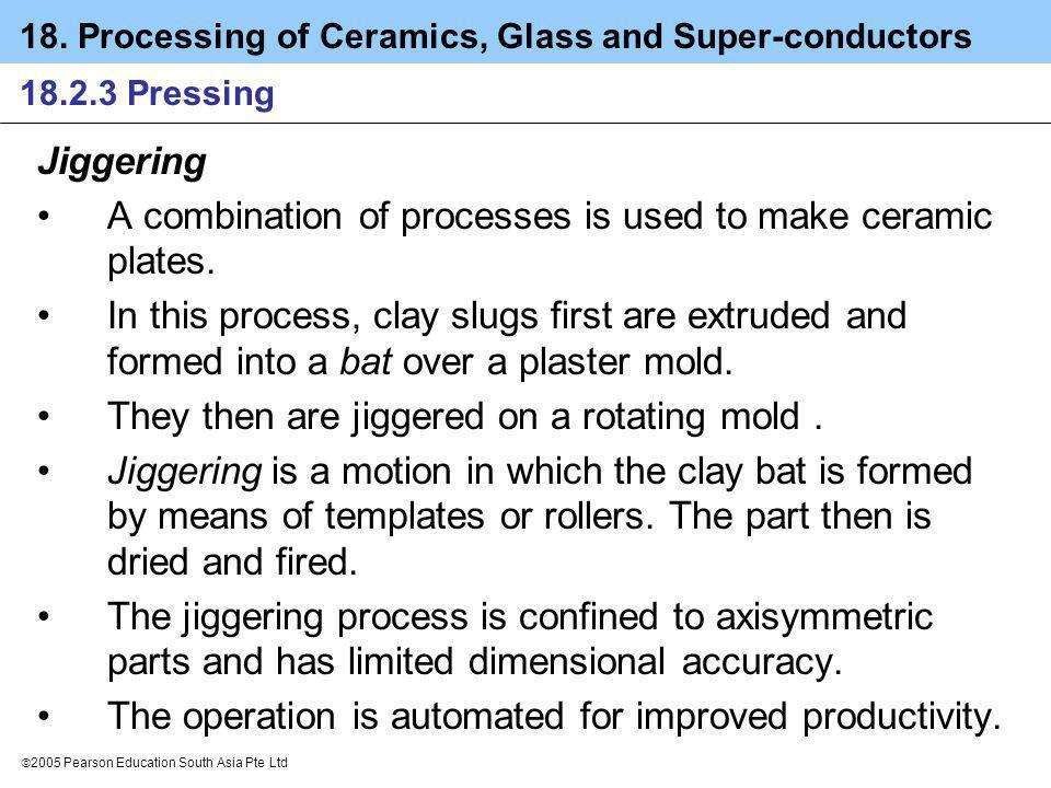 A combination of processes is used to make ceramic plates.