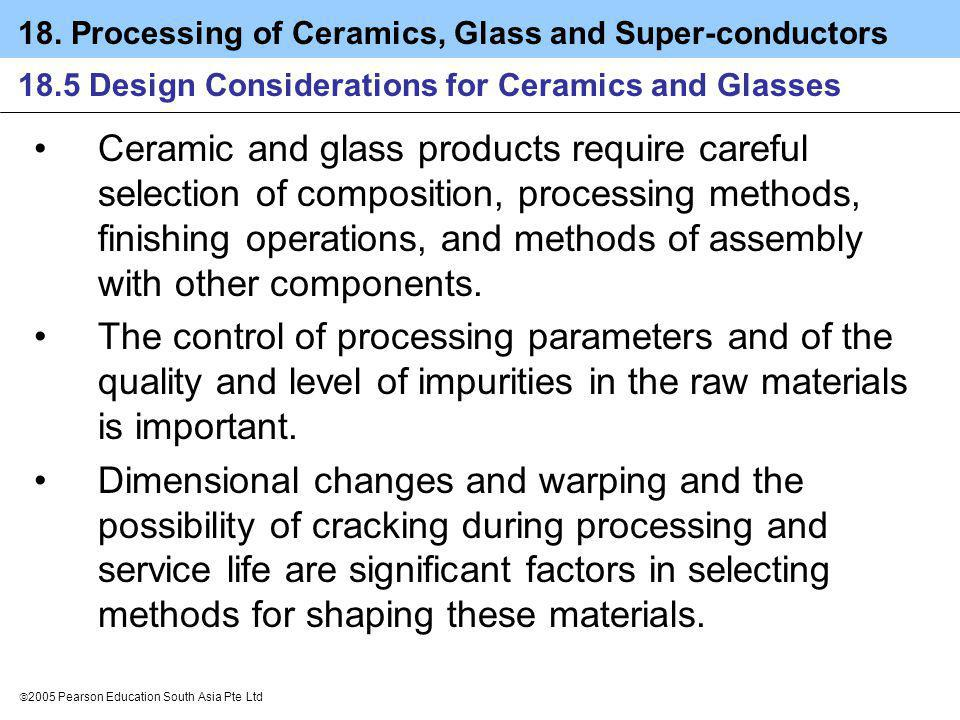 18.5 Design Considerations for Ceramics and Glasses