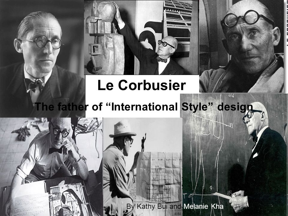 Le Corbusier The father of International Style design