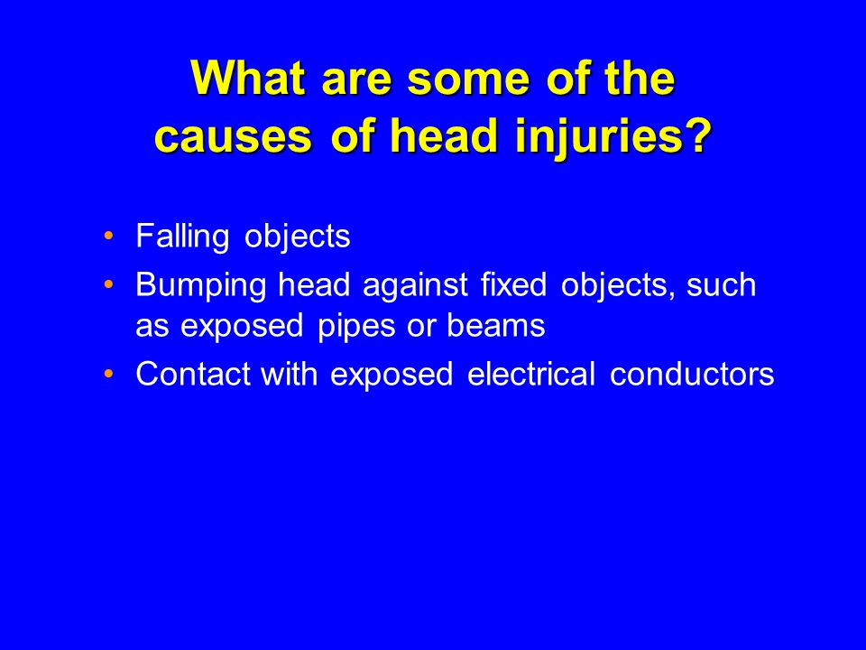 What are some of the causes of head injuries