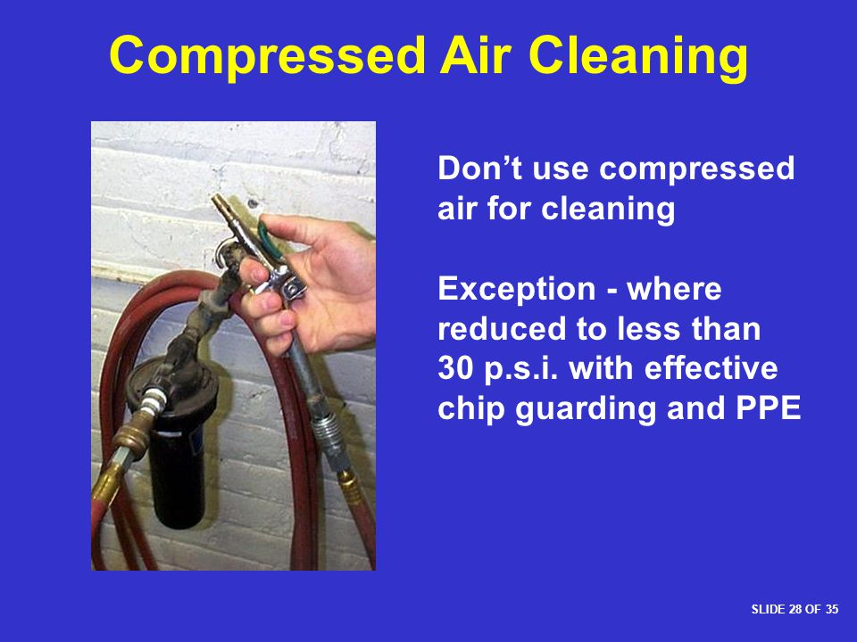 Compressed Air Cleaning