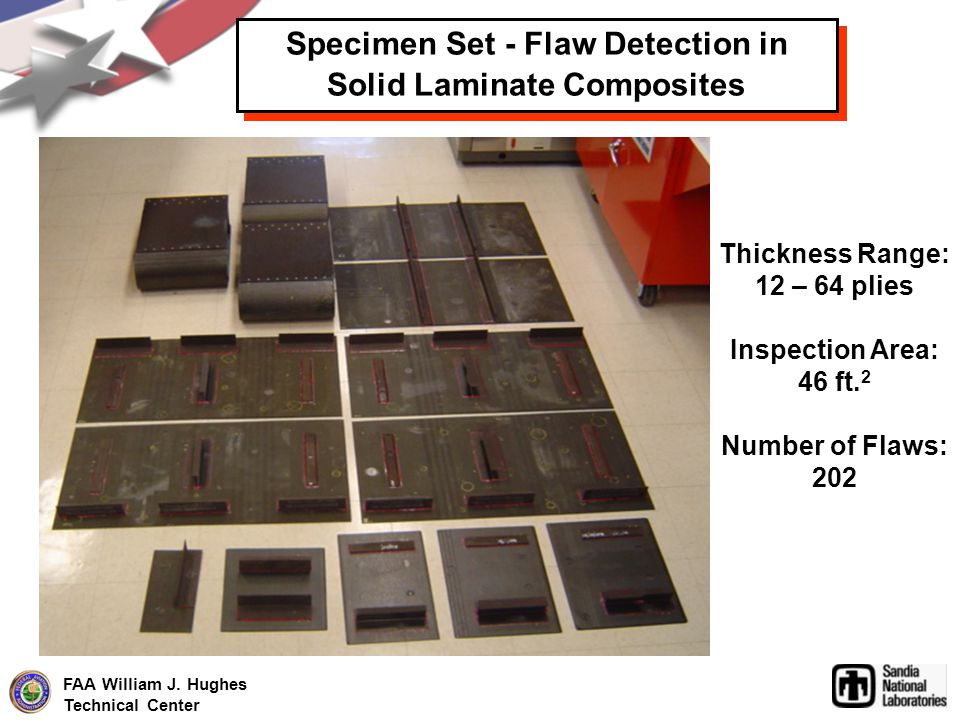 Specimen Set - Flaw Detection in Solid Laminate Composites