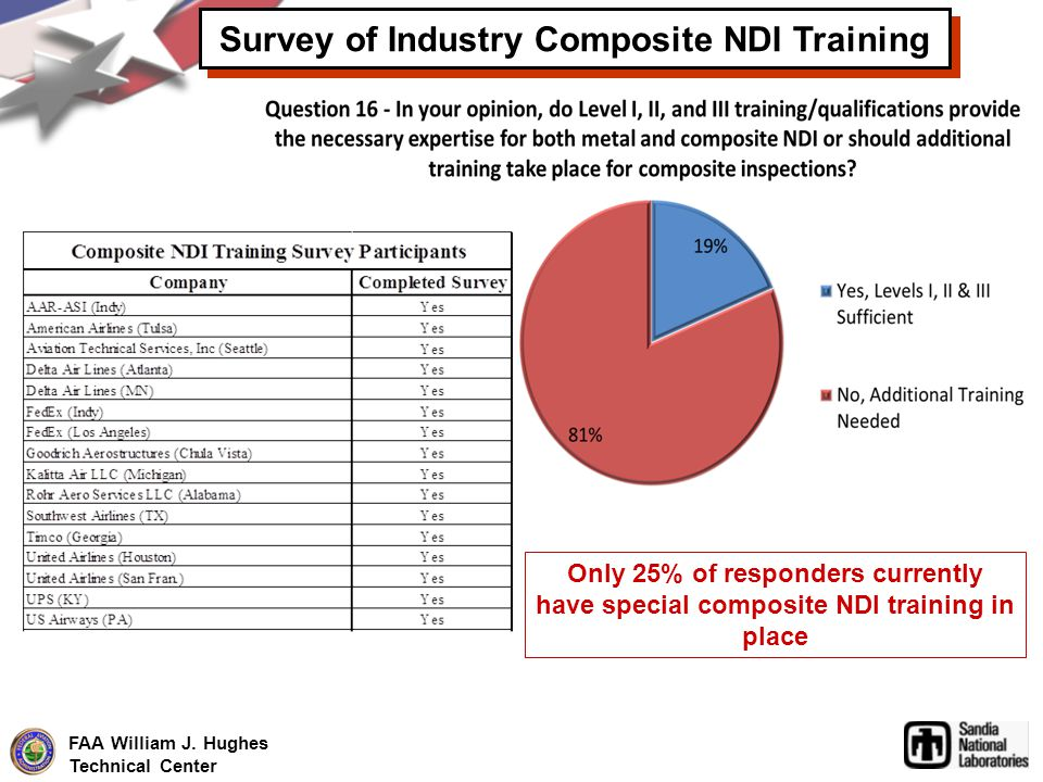 Survey of Industry Composite NDI Training