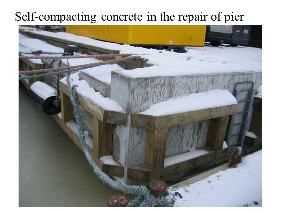 Self-compacting concrete in the repair of pier