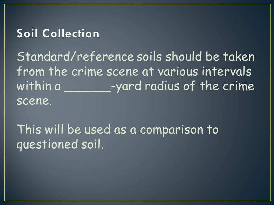 Soil Collection