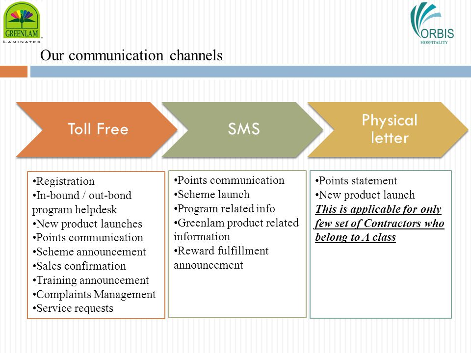 Our communication channels