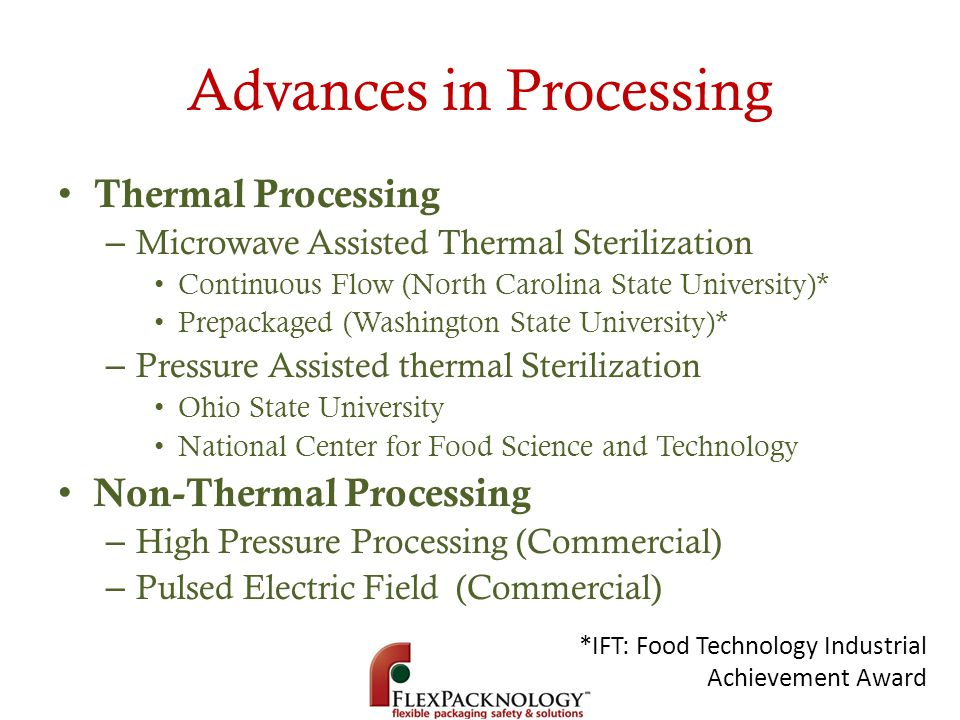 Advances in Processing