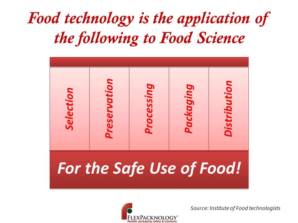 Food technology is the application of the following to Food Science