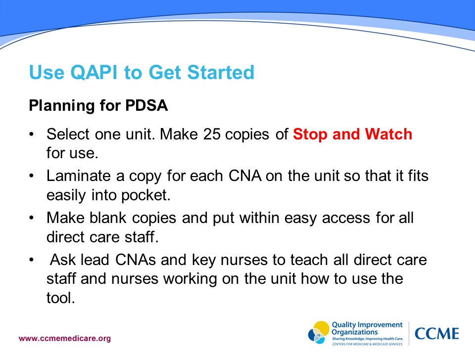 Use QAPI to Get Started Planning for PDSA