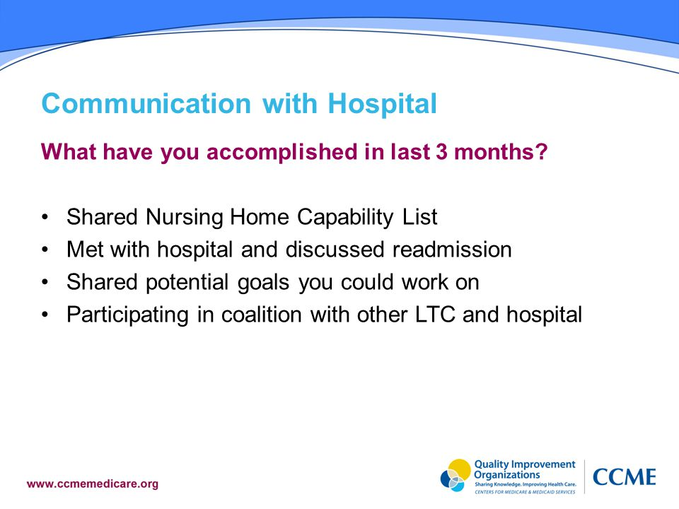 Communication with Hospital