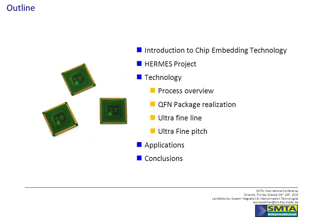 Next Generation System in a Package Manufacturing