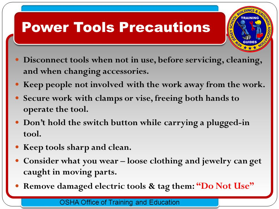 Power Tools Precautions