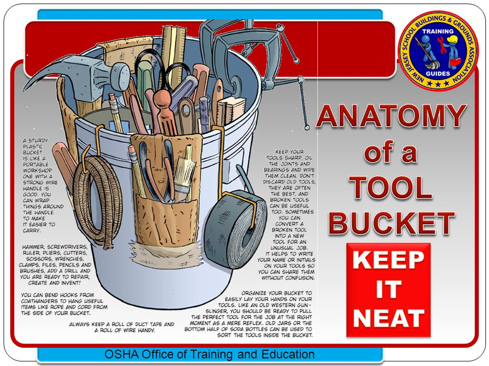 ANATOMY of a TOOL BUCKET