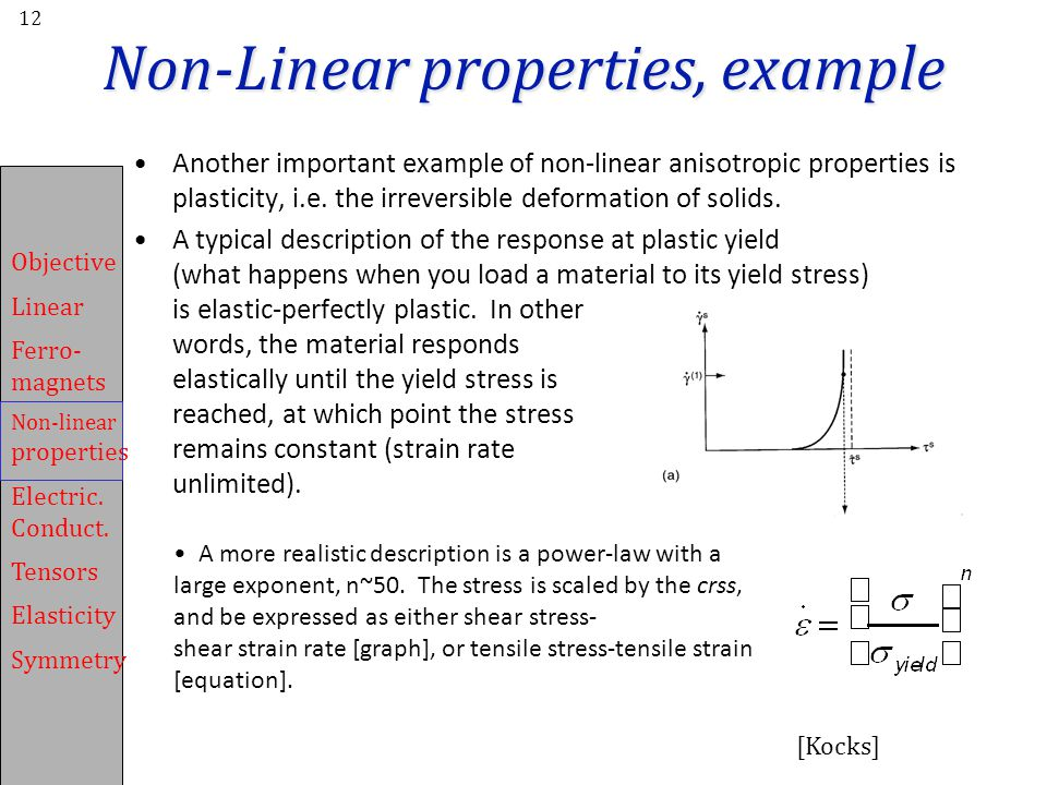 Non-Linear properties, example