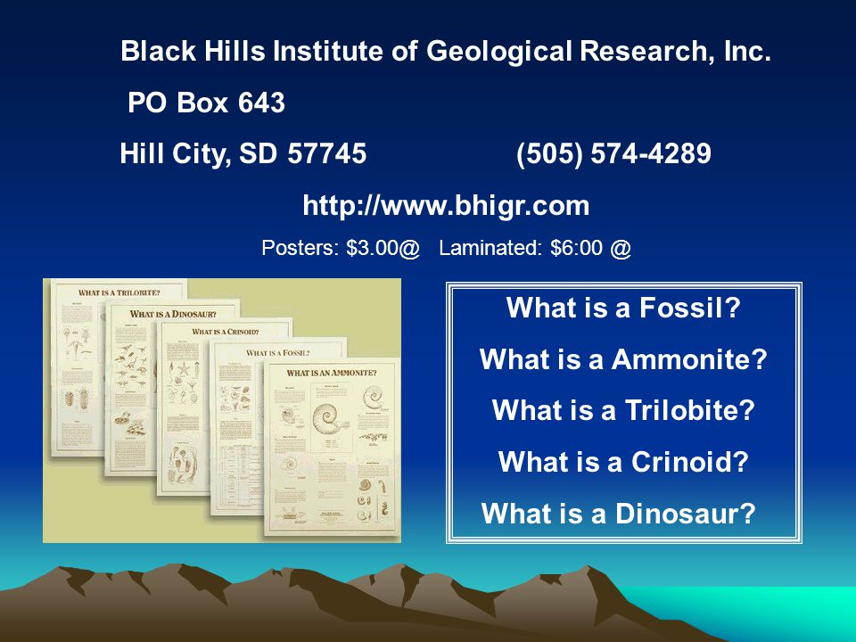 Black Hills Institute of Geological Research, Inc.