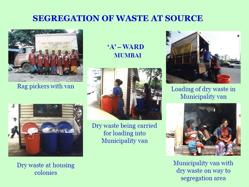 SEGREGATION OF WASTE AT SOURCE