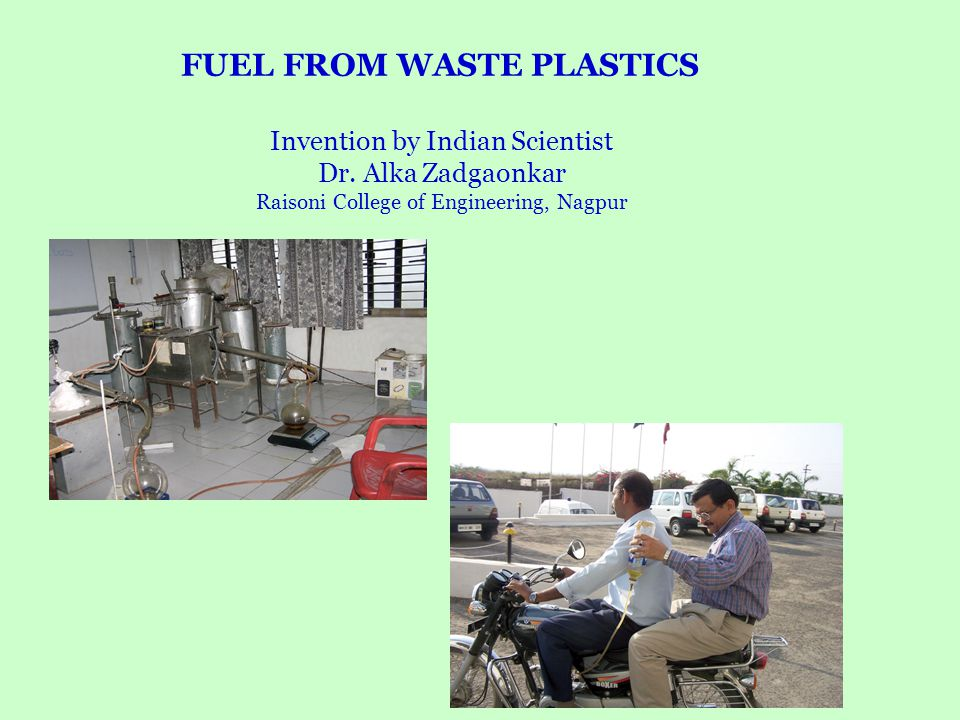 FUEL FROM WASTE PLASTICS