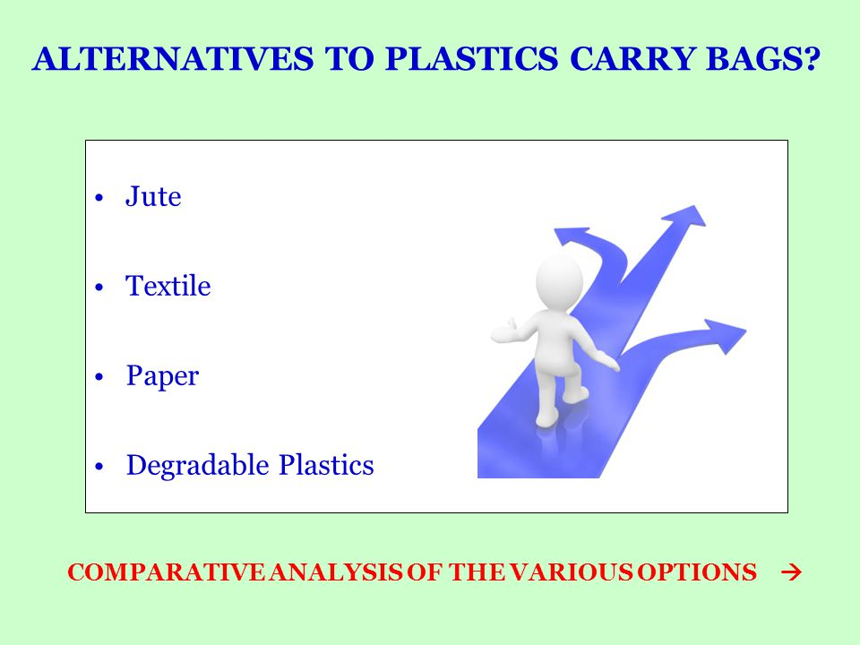 ALTERNATIVES TO PLASTICS CARRY BAGS