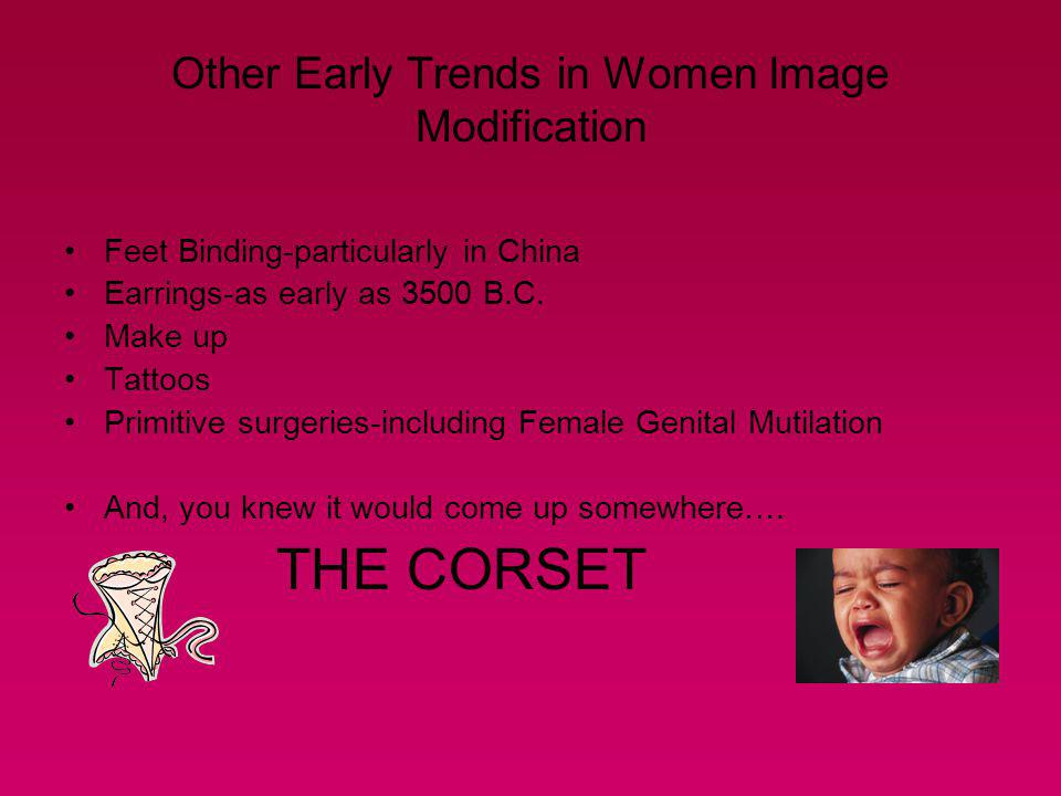 Other Early Trends in Women Image Modification