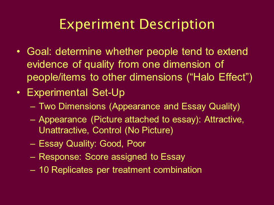 Experiment Description