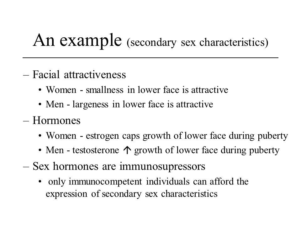 An example (secondary sex characteristics)