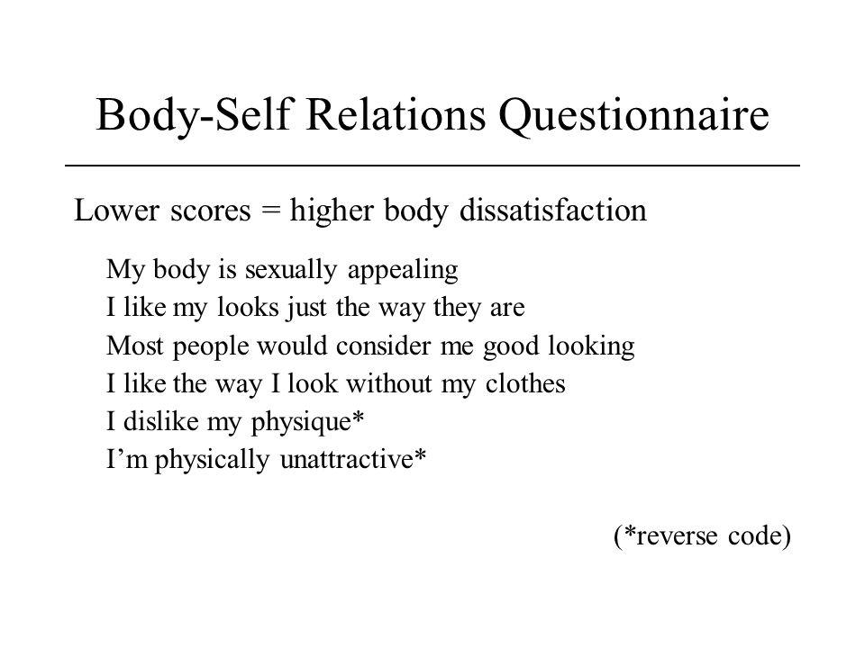 Body-Self Relations Questionnaire