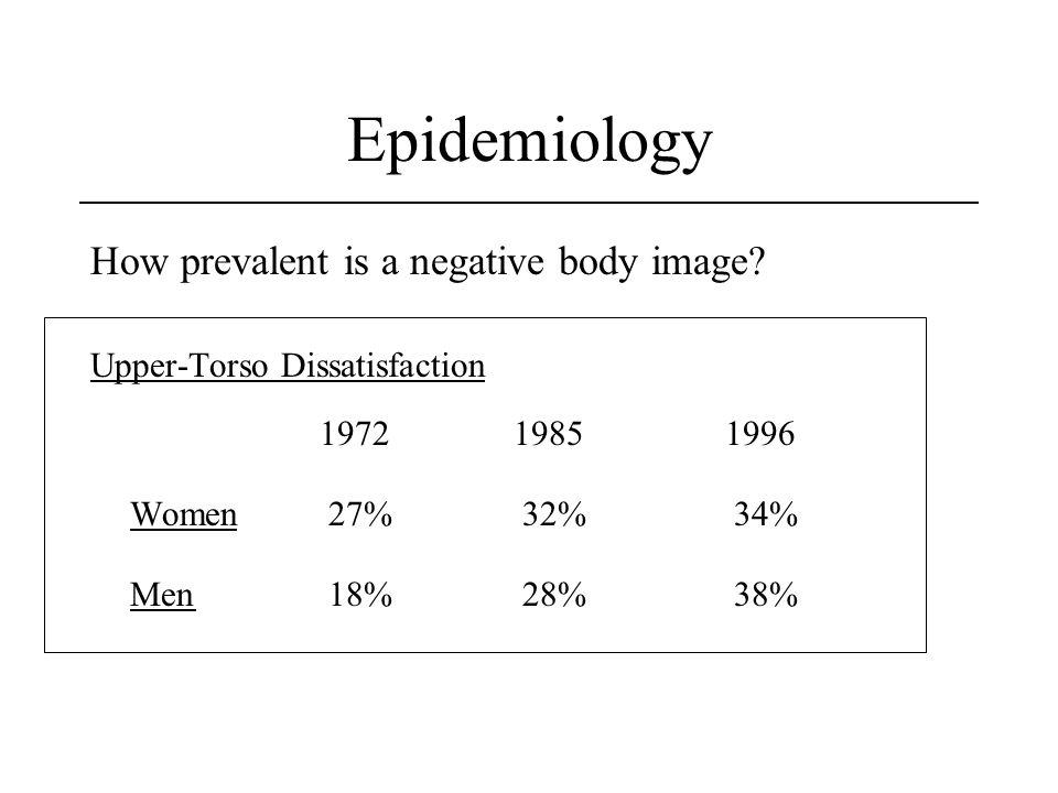 Epidemiology How prevalent is a negative body image