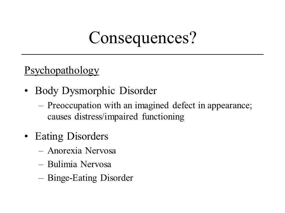 Consequences Psychopathology Body Dysmorphic Disorder
