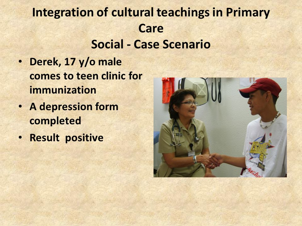 Integration of cultural teachings in Primary Care Social - Case Scenario