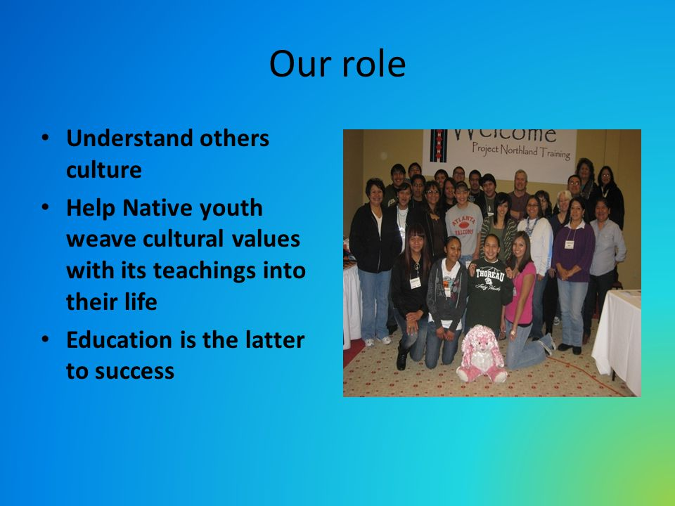 Our role Understand others culture